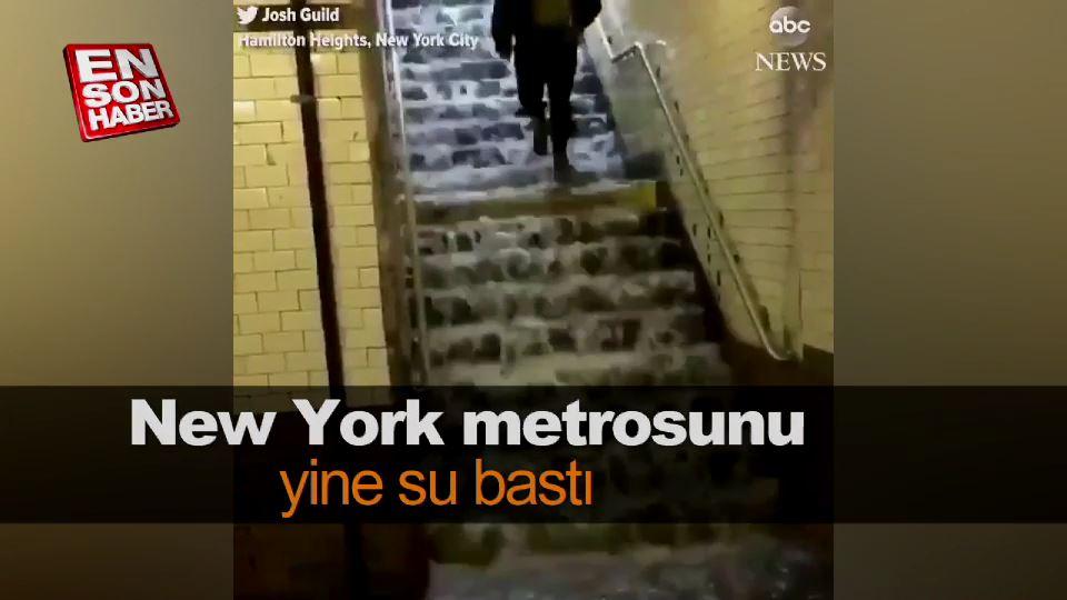 New York metrosu şelaleye döndü