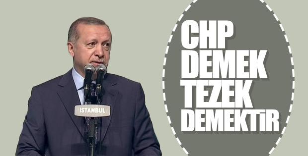 Cumhurbaşkanı Erdoğan'dan CHP'ye salvolar