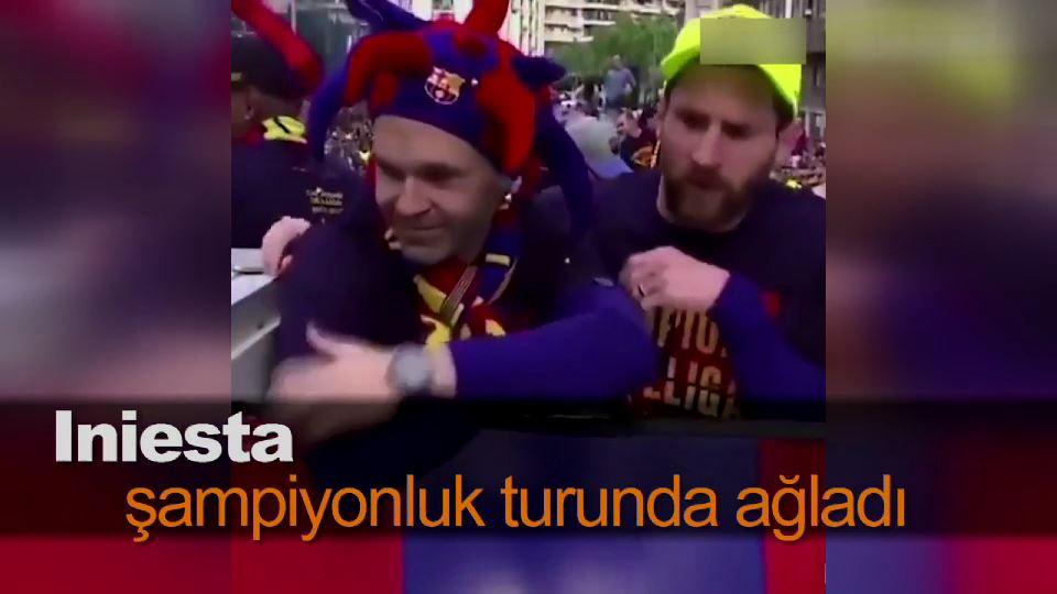 Iniesta şampiyonluk turunda ağladı