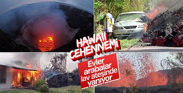 Hawaii'de lavlar önüne geleni yuttu
