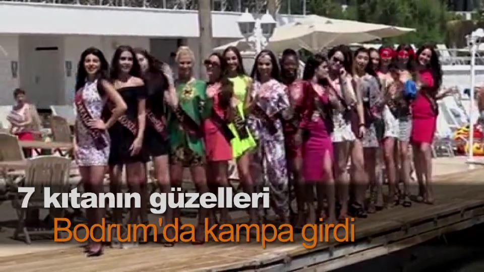7 kıtanın güzelleri Bodrum'da kampa girdi