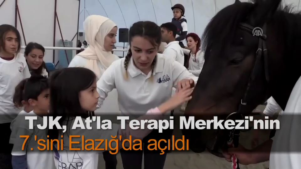 TJK, At'la Terapi Merkezi'nin 7.'sini Elazığ'da açıldı