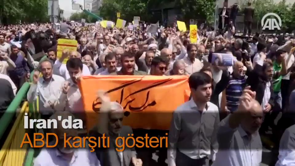 İran'da ABD karşıtı gösteri