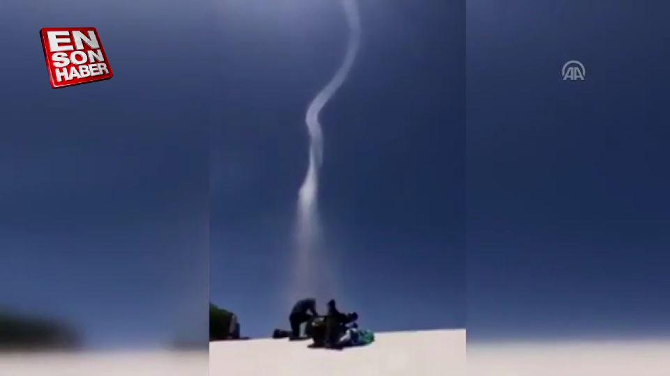 Babadağ'da hortum paraşütçüleri korkuttu