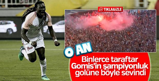 Gomis'in golüne sevinen Galatasaraylılar
