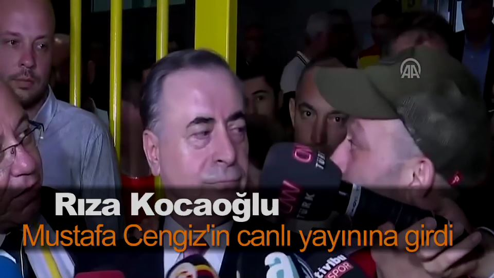 Rıza Kocaoğlu, Mustafa Cengiz'in canlı yayınına girdi