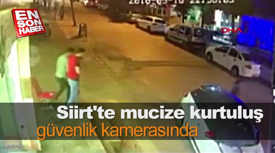 Siirt'te mucize kurtuluş güvenlik kamerasında