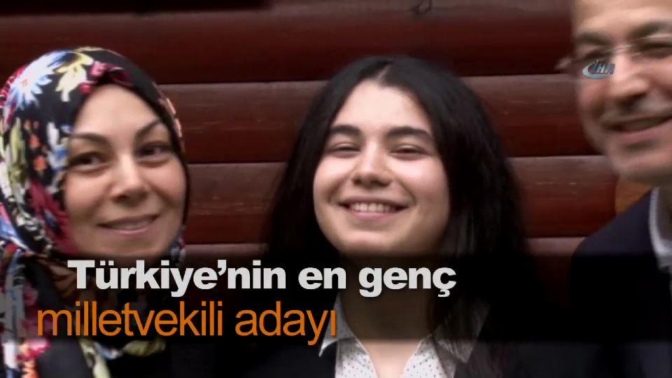 Türkiye'nin en genç milletvekili adayı
