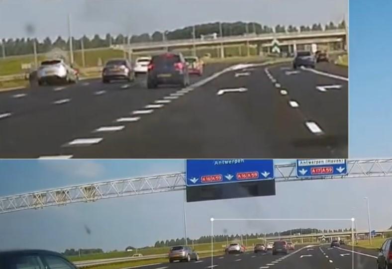 Hollanda'da meydana gelen zincirleme kaza