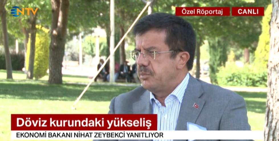 Bakan Zeybekci: Türk lirasının değer kaybı spekülatif