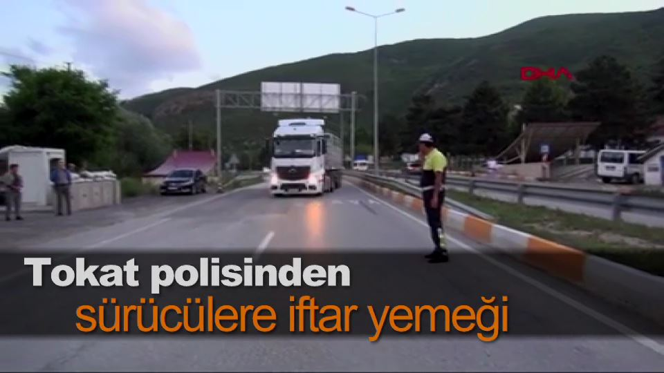 Tokat polisinden sürücülere iftar yemeği