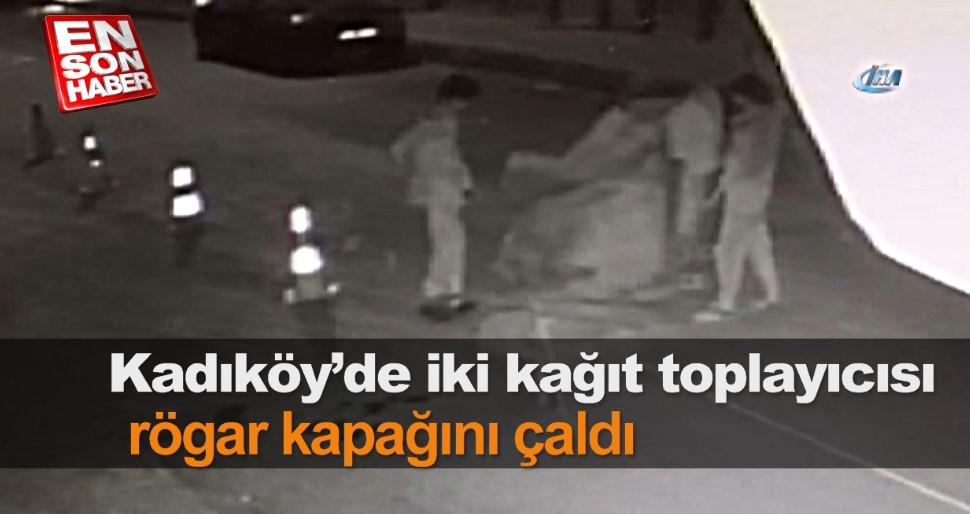 Kadıköy'de hırsızlar rögar kapağını çaldı