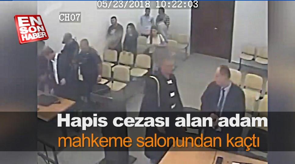 Hapis cezası alan adam mahkeme salonundan kaçtı