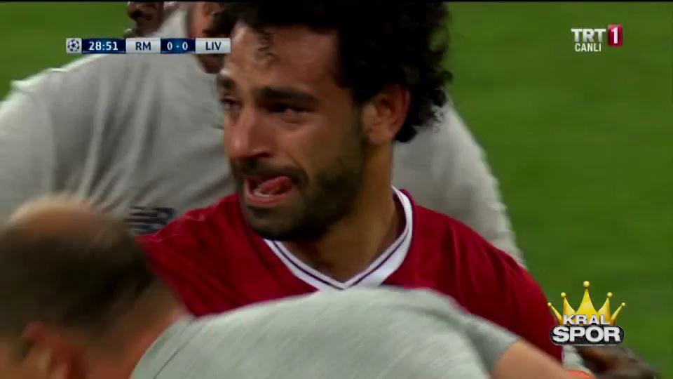 Sakatlanan Salah, ağlayarak oyundan çıktı