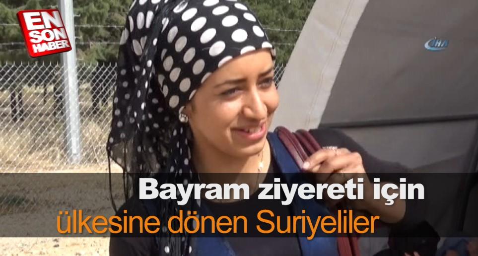 Bayram ziyereti için ülkesine dönen Suriyeliler