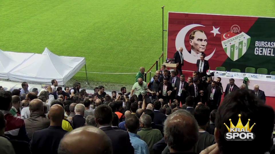Bursaspor genel kurulunda gerginlik
