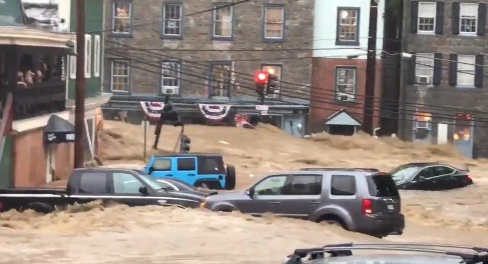 ABD'nin Maryland eyaleti sel suları altında kaldı