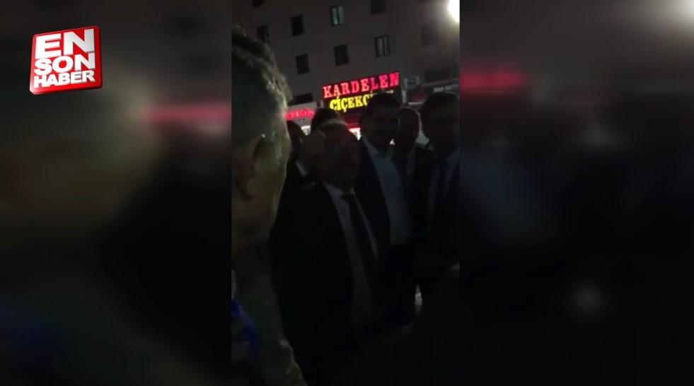 Abdüllatif Şener Konya'da halkı tehdit edip kaçtı