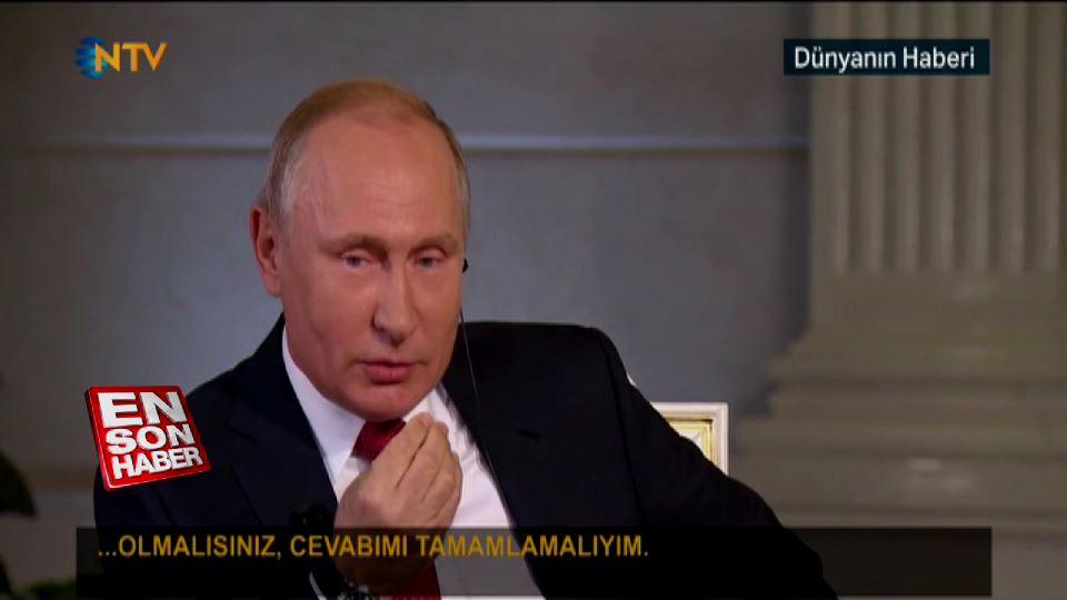 Putin, lafını kesen sunucuya Almanca sitem etti