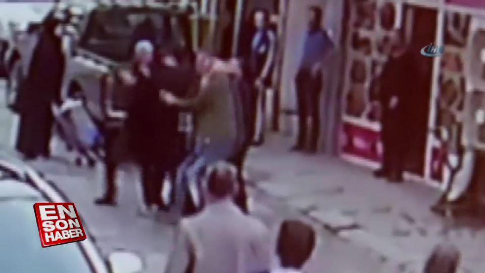 Alkollü şahıs eşinin yanında çarşaflı kadına hakaret etti
