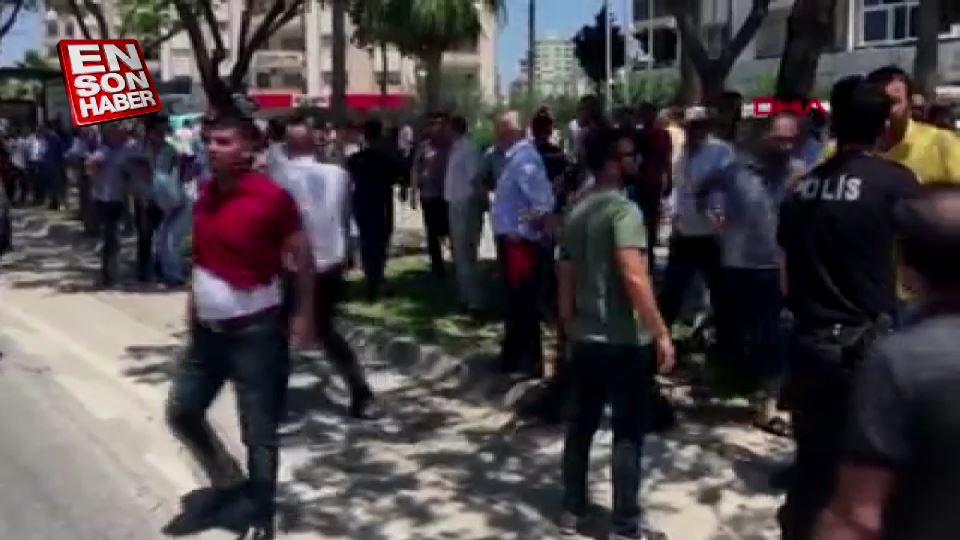 Adana'da taşlı sopalı kavga