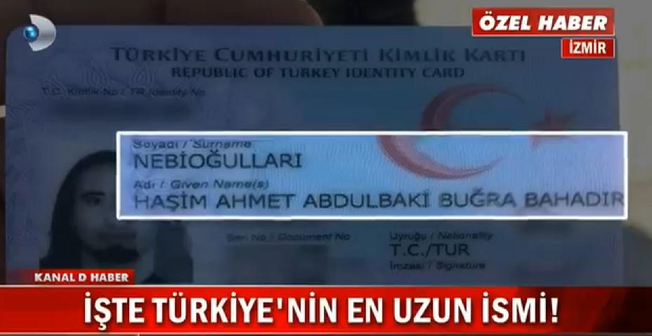 Türkiye'nin en uzun ismi