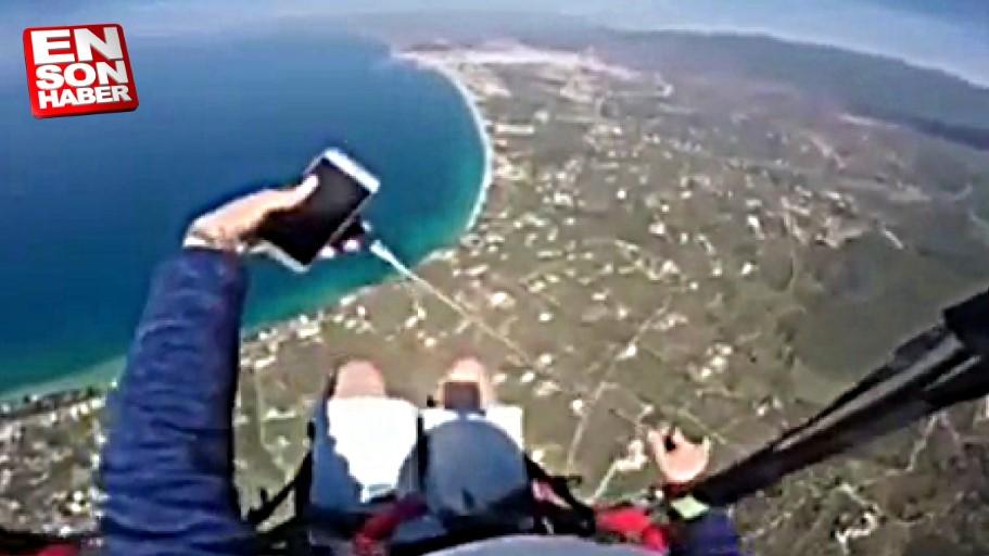 Yamaç paraşütü yaparken cep telefonunu düşürmek
