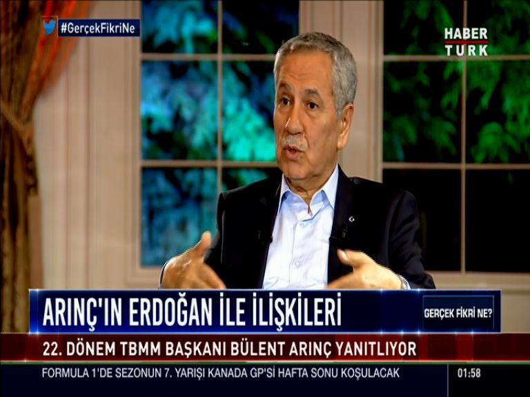Bülent Arınç: Recep Tayyip Erdoğan'ın karşısına ben aday olamam