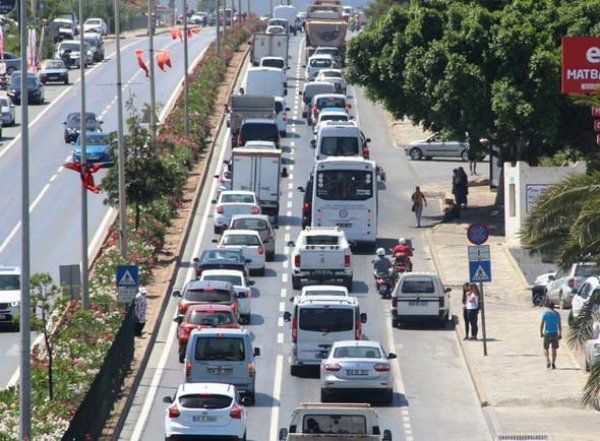 Bodrum'da tatilci trafiği
