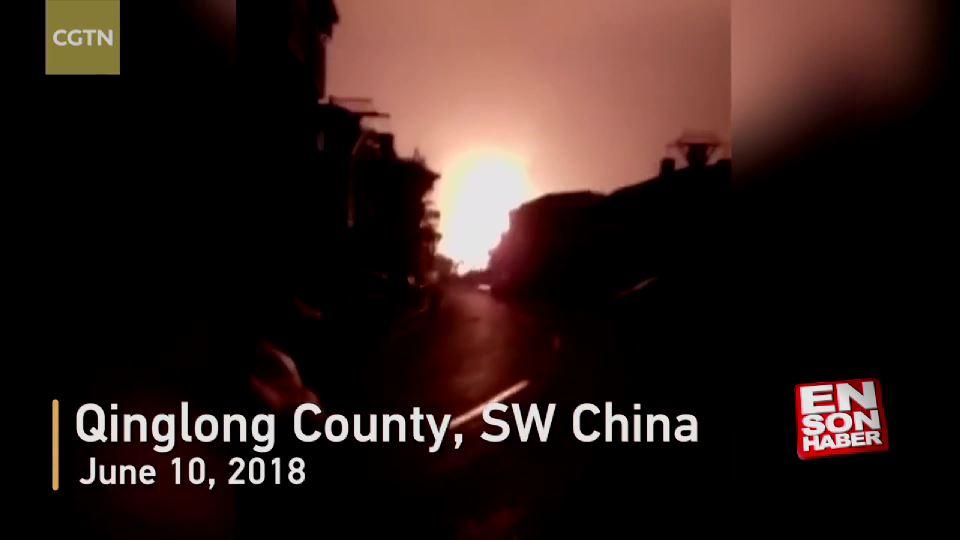 Çin'de doğalgaz boru hattında patlama: 35 yaralı