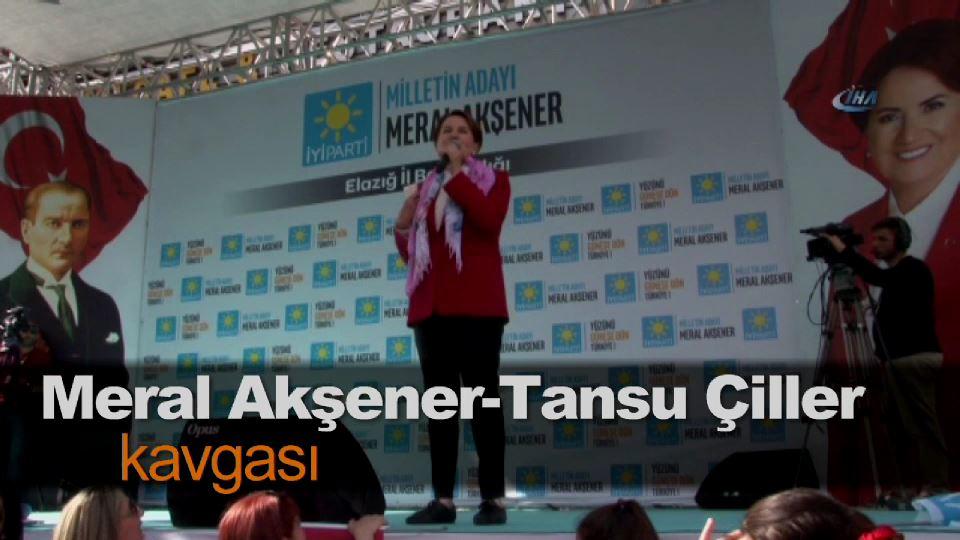 Meral Akşener-Tansu Çiller kavgası