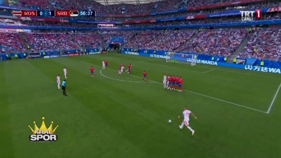 Kolarov'dan Kosta Rika'ya frikik golü