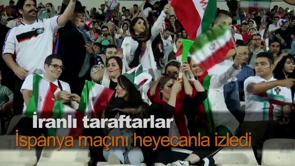 İranlı taraftarlar İspanya maçını heyecanla izledi