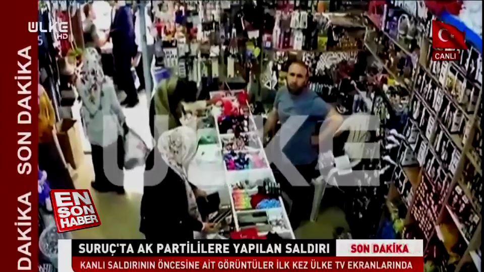 Şanlıurfa'da AK Partililere saldırının görüntüleri