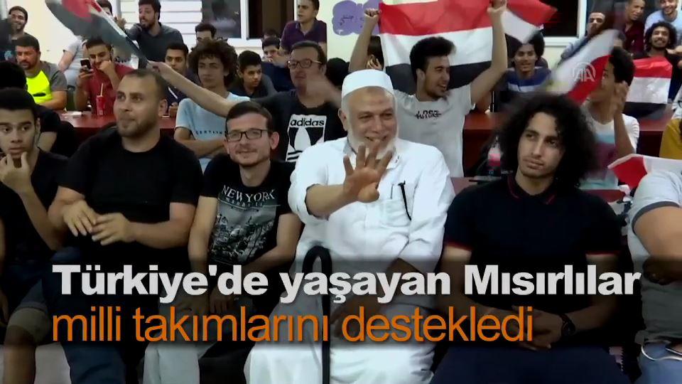 Türkiye'de yaşayan Mısırlılar milli takımlarını destekledi