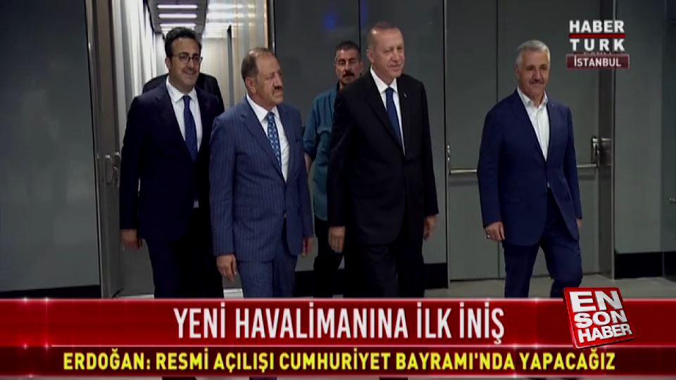 Cumhurbaşkanı, İlker Aycı'yla birlikte havalimanını gezdi