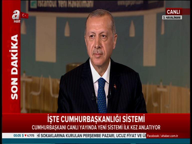 Cumhurbaşkanı yeni sistemi anlattı