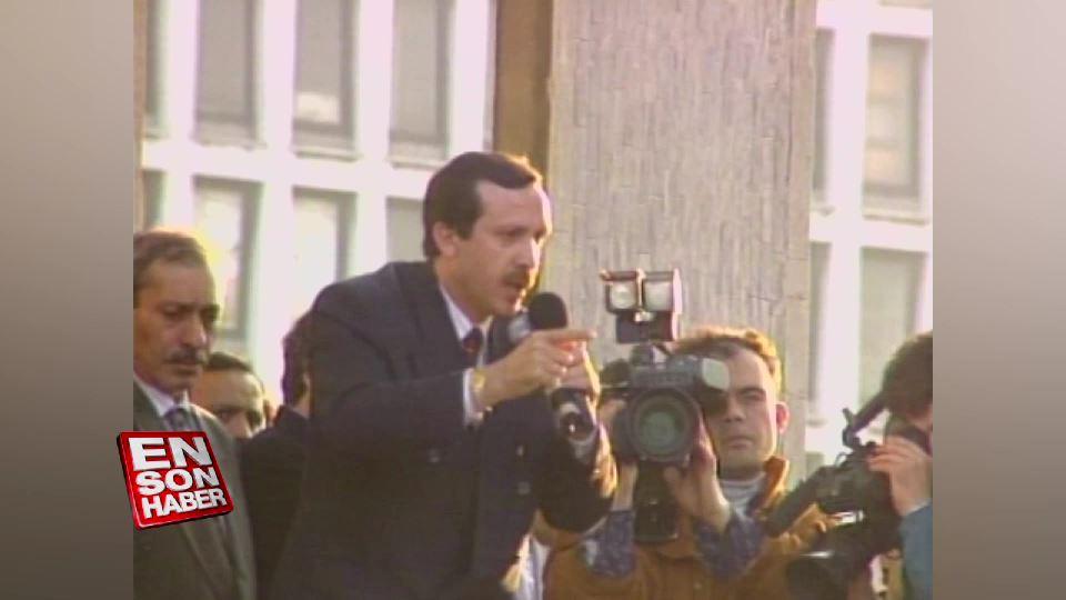 Cumhurbaşkanı Erdoğan'ın İlk balkon konuşması - 1994
