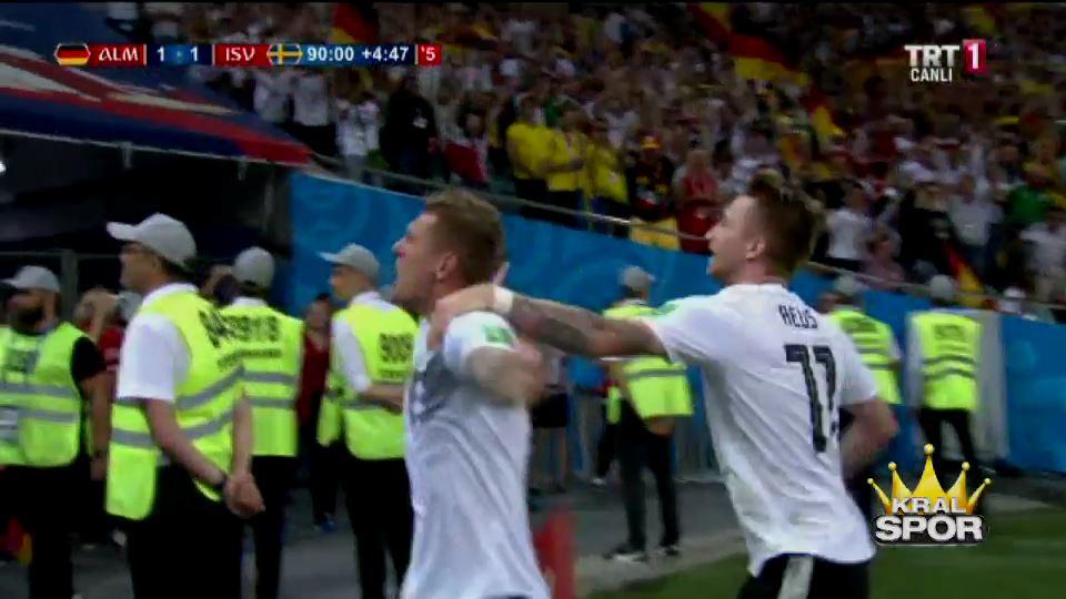 Kroos'un İsveç'i yıkan son dakika golü