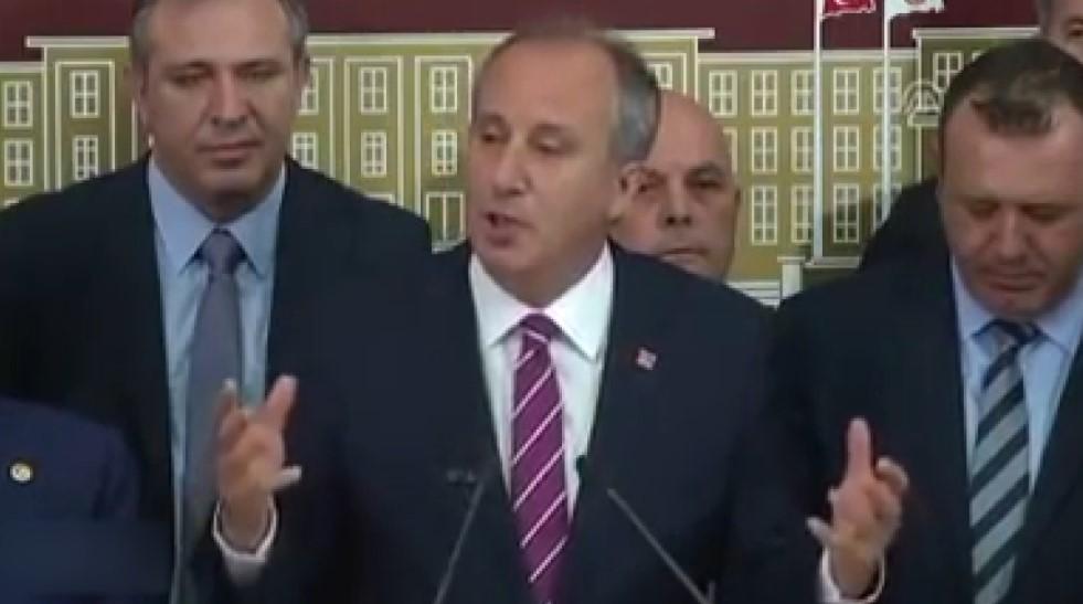 Muharrem İnce'nin Kemal Kılıçdaroğlu isyanı