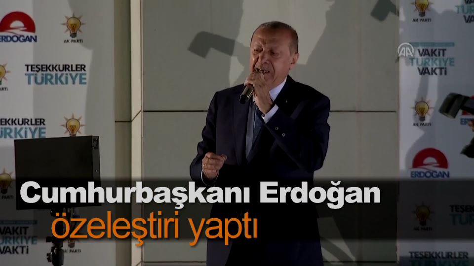 Cumhurbaşkanı Erdoğan özeleştiri yaptı