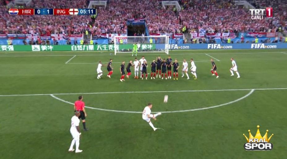 Hırvatistan 0-1 İngiltere Gol Trippier - Fifa 2018