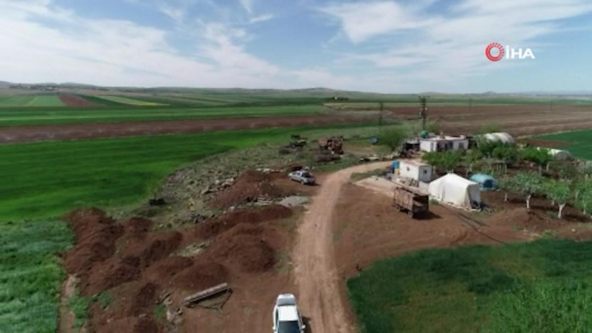 Diyarbakır'da kaçak kullanımı tespit için havalanan drone'u taşladılar